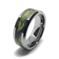 military army camouflage ring with woodlands type design