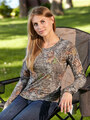 Mossy Oak Break-Up Camouflage Long Sleeve Burnout