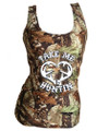 HUntress Camouflage Tank Top For Women - take Me Huntin