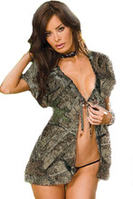 Lingerie Huntress Camouflage Baby Doll with matching panties in a two piece set by Southern Sisters