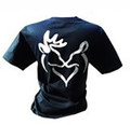 Her Doe Men's Black T Shirt With a white deer on the front of the shirt