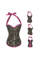 Army Camo Corset with Pink Trim