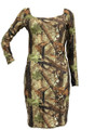 Camouflage Long Sleeve Dress