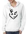 Buck and Doe Love White Hoodie for Women
