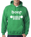 Green with White Beer Hoodie