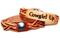 Cowgirl up Leather Bracelet Gift