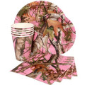 Pink Camo Birthday Party Set For 8