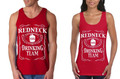 Redneck Drinking Team Couples Tank Tops