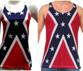 Mens and Womens Rebel Flag Tank Top Sets For Couples