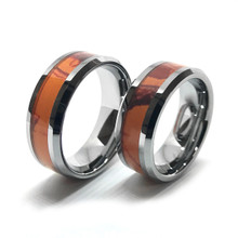 loading zoom - Orange Camo Wedding Rings