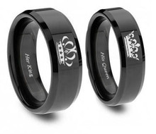 Couples King And Queen Ring Set