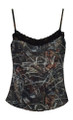 Marsh Reed Camouflage Cami with Black Lace