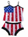 American Flag Cami and Boy Short Panties