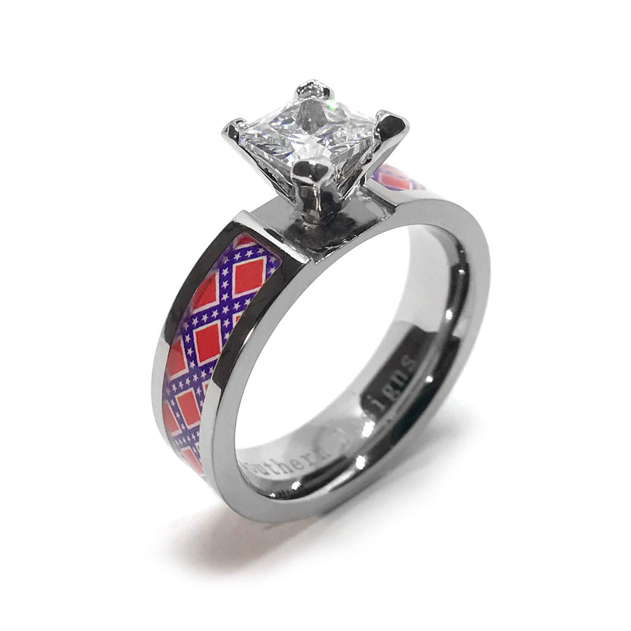 Rebel flag wedding ring on sale for Rebel designs jewelry sale