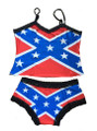 Rebel Flag Lingerie Boy Shorts and Camisole