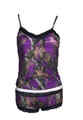 Purple Camo Camisole and boy shorts lingerie outfit