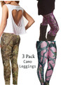 3 Pack Camo Leggings - Choose Your Size