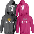 King and Queen Personalized Hoodies Set - Add Your Date
