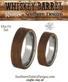 Whiskey Barrel Couples Ring Set - His and Hers