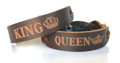 King and Queen Bracelets Made From Real Leather