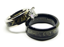 loading zoom black camo engagement wedding ring - Camo Wedding Rings Sets