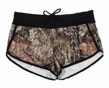 Mossy Oak Black Trim Swim Shorts