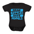 Drink Bottles and Date Models Funny Baby Onesie