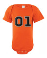 General Lee Orange Baby Onesie