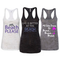 Beach Life 3-Piece Burnout Tank Top Set