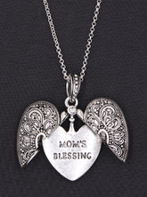 Mother's Day Necklace Locket - Mom's Blessing