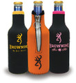 Browning Black/Yellow Bottle Coozies