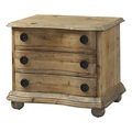 PADMA'S PLANTATION FURNITURE SALVAGED WOOD END TABLE WITH DRAWERS / NIGHTSTAND