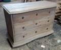 PADMA'S PLANTATION FURNITURE SALVAGED WOOD DRESSER IN OLD GREY