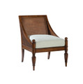 BELLE MEADE SIGNATURE FURNITURE FORSYTHE WOVEN CANE ACCENT CHAIR