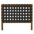 PADMA'S PLANTATION FURNITURE QUEEN OPEN WEAVE SEAGRASS HEADBOARD