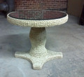 LANE FURNITURE WOVEN SEAGRASS CENTER TABLE WITH MIRRORED TOP
