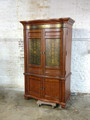 MIRADOR FURNITURE LANCASTER ARMOIRE WITH EMBOSSED METAL