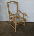 BELLE MEADE SIGNATURE FURNITURE UNFINISHED JAMIE ARM CHAIR FRAME