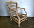 XS UPHOLSTERY UNFINISHED / RAW FRENCH COUNTRY  LADDER BACK ACCENT CHAIR FRAME
