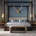 VANGUARD FURNITURE THOM FILICIA  UPHOLSTERED MARSHALL POSTER BED IN QUEEN