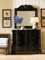 LEXINGTON FURNITURE LONG COVE SPINNAKER SCROLL MIRROR IN MIDNIGHT