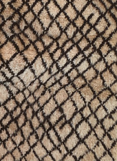 "Handwoven  Hand Knotted Wool Beni Ourain Tazenakht Tribal Berber Morocco (42"" x 76"")"