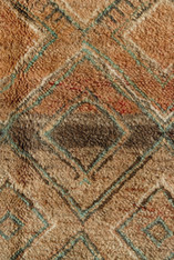 "Handwoven and Hand Knotted Beni Mguild Vintage Berber Wool Rug Morocco ( 77"" x 118"")"