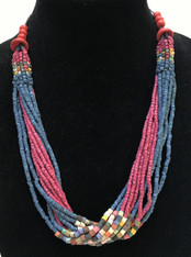 Handmade Ceramic Bead Necklace E Guatemala