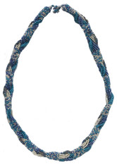 "Handmade Beaded Braided Necklace Guatemala (10.5"" drop)"