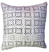 """Handwoven Dyed Mud Cloth Pillow Mali (20""""x 20"""")"""