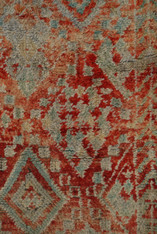 """Handwoven and Hand Knotted  Vintage Tribal Berber Wool Rug Morocco (60"""" x 94"""")"""