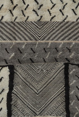 "Handwoven and Hand Knotted Tribal Berber Wool Rug Morocco (55"" x 95"")"