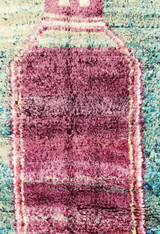 "Handwoven and Hand Knotted Mixed Fiber Boucherouite Rug Morocco (50"" x 79"")"