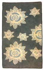 "Handmade Wool Felt Flower Rug Afghanistan (36"" x 60"")"
